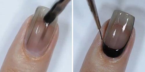 truque para unhas com esmalte escuro