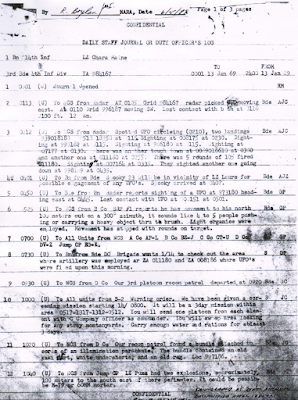 Officers Log (Vietnam) 1-13-1969
