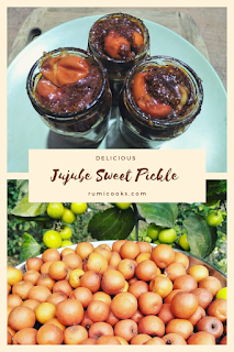 Jujube is a round shaped sweet and sour winter special fruit found in Assam available around December to March. Sweet jujube pickle or bogorir mitha achar is very popular in Assam. It is generally served as a side dish with the main course.