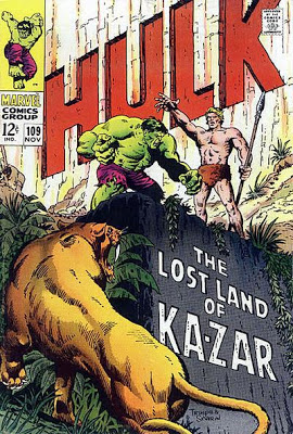 Incredible Hulk #109, Ka-Zar and Zabu