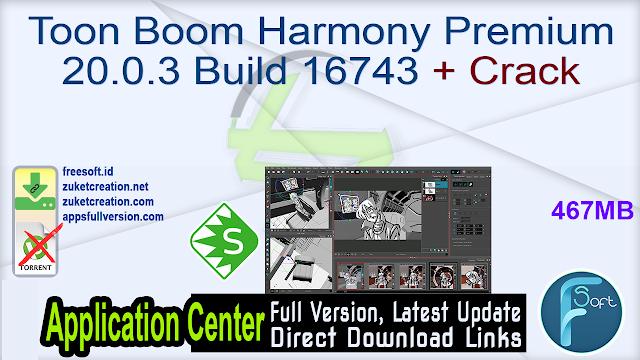 Toon Boom Harmony Premium 20.0.3 Build 16743 + Crack
