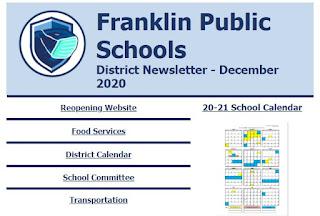 Franklin Public Schools: District Newsletter December 2020