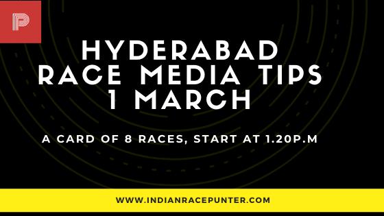 Hyderabad Race Media Tips 1 March