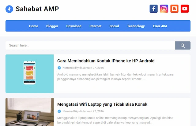 تحميل قالب بلوجر إحترافي - سحابة AMP المدفوع