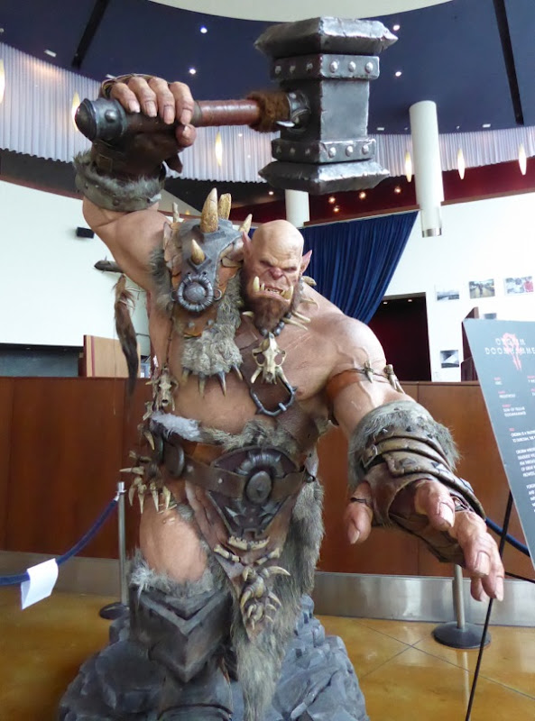 Orgrim Doomhammer statue ArcLight Hollywood cinema