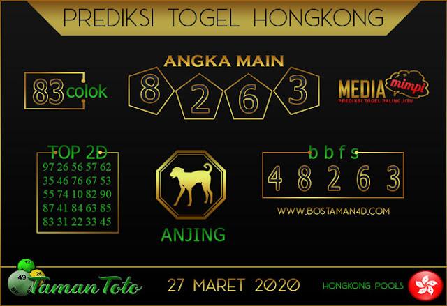 Prediksi Togel HONGKONG TAMAN TOTO 27 MARET 2020