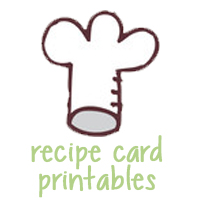 Recipe Cards to Print