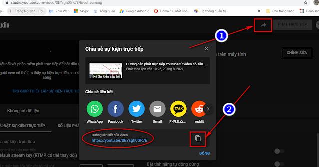 Đường link youtube cung cấp cho mọi người xem trực tiếp