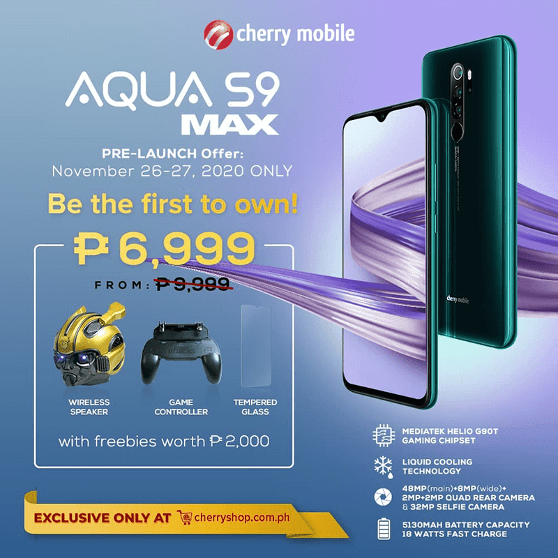 Get it for PHP 6,999 at launch with freebies