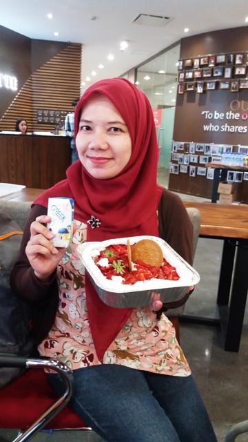 no bake strawberry cheese cake heavenly blush greek yogurt dan ilotte online mall nurul sufitri blogger