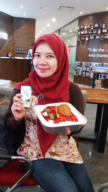 no bake strawberry cheese cake heavenly blush greek yogurt dan ilotte online mall nurul sufitri blogger