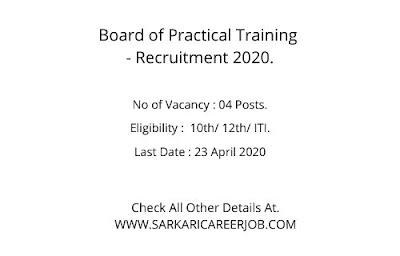 BOPT Recruitment 2020 | 04 BOPT Vacancy 2020.