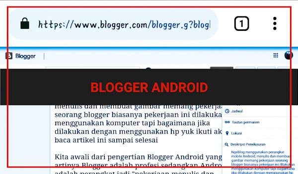 Ngeblog lewat hp android