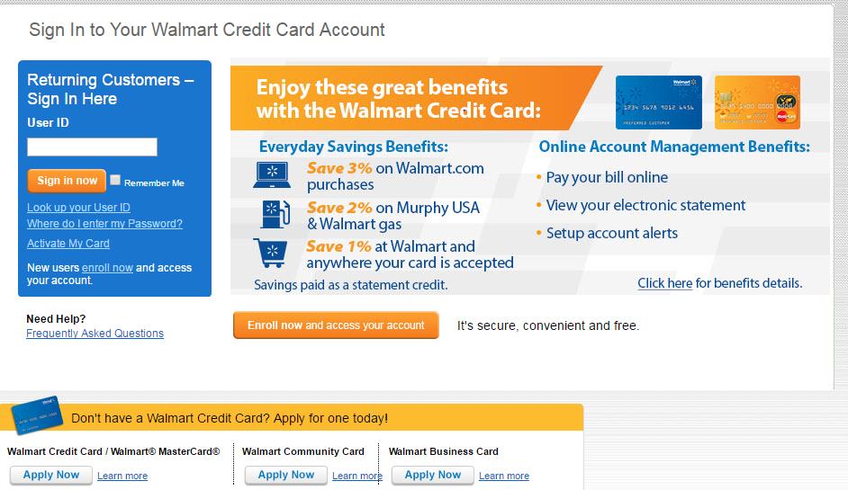 Walmart Credit Card Walmart Com >> Walmart Credit Card Login Step By Step Guide Walmart Credit