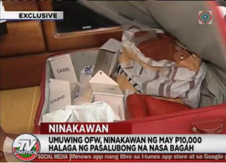 NAIA theft, OFW luggage stolen