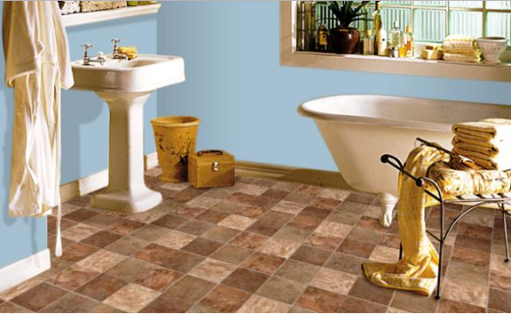 How to Lay Linoleum in a Bathroom