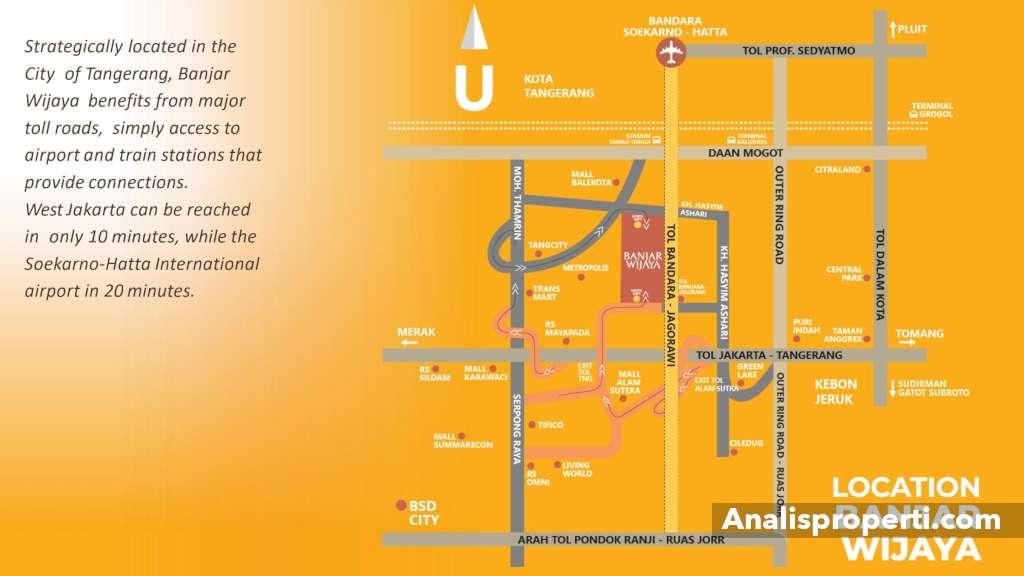 Peta Lokasi Alfiore Banjar Wijaya