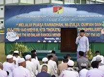 Kodam XIII/Merdeka Selenggarakan Shalat Idul Fitri 1440 Hijiryah