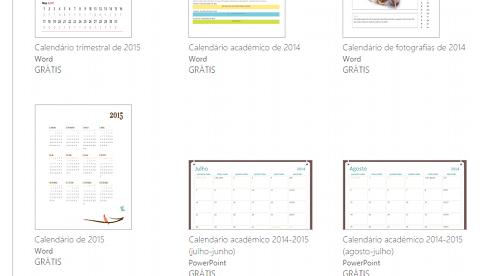 criar calendário 2015 no Word