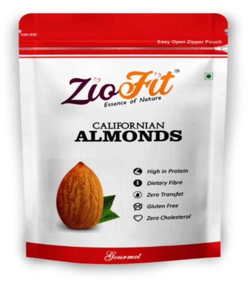 Ziofit Californian Almonds, 200g (Buy 1 Get 1 Free)