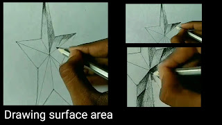 Step by step tutorials for to draw surface of star in realistic