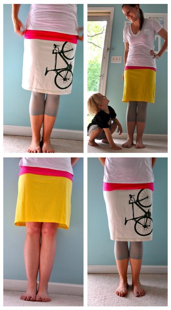 How To Make A T Shirt Skirt 110