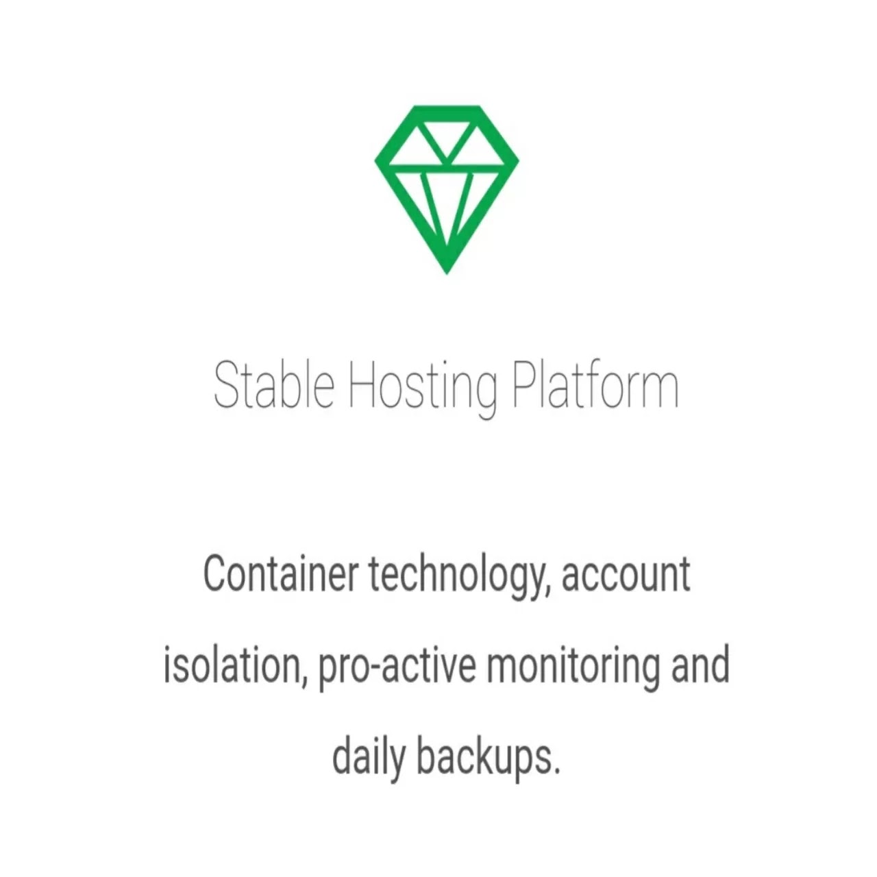 Green geeks stable hosting platform