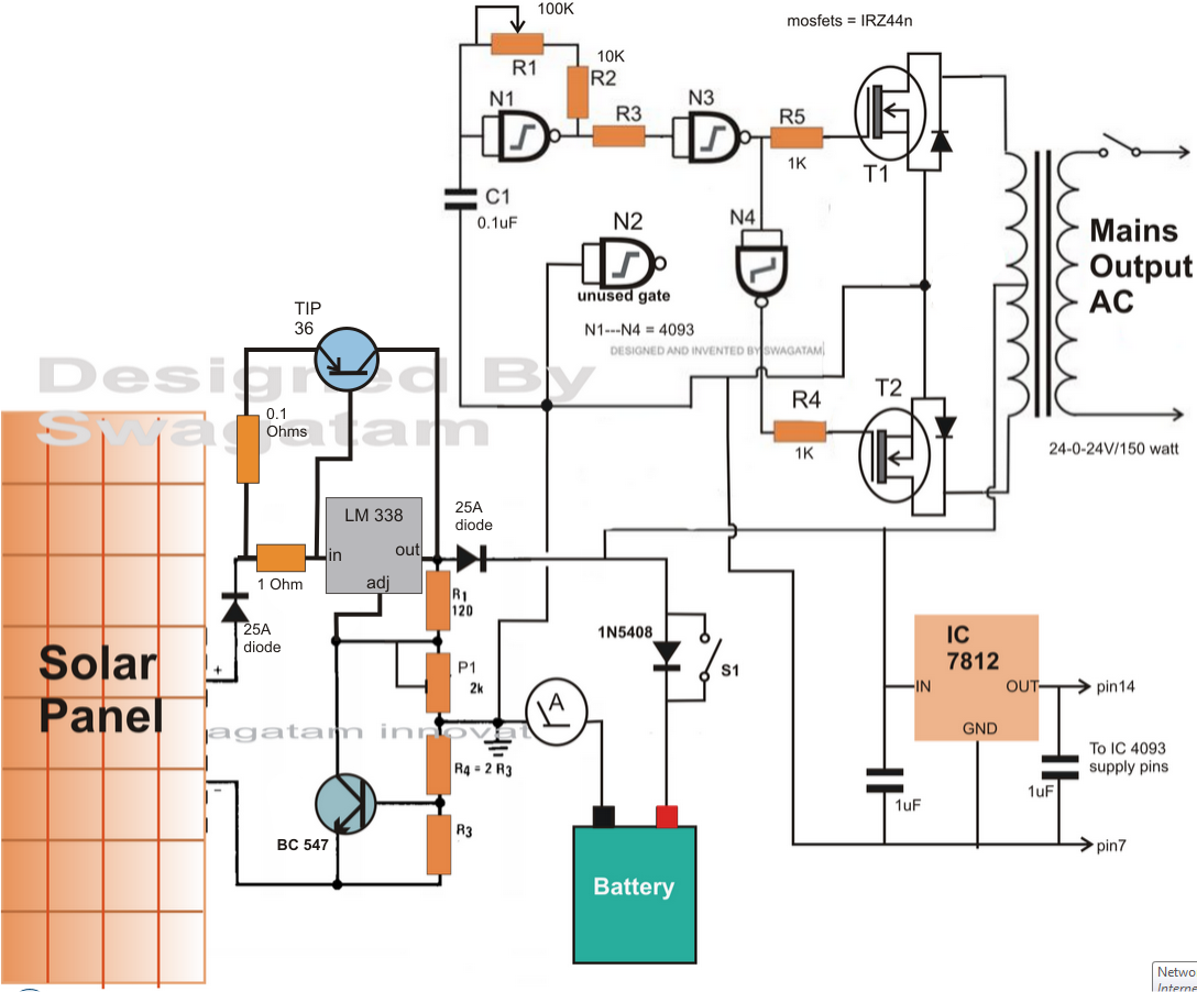 dc to ac inverter circuit diagram pdf forplete tutorial please refer to this article solar [ 1088 x 902 Pixel ]