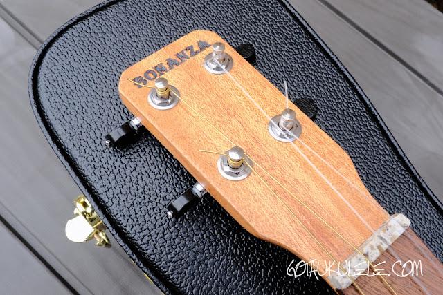 Bonaza Homestead baritone ukulele headstock