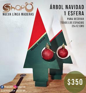 Árbol navideño decorativo 25x12cms