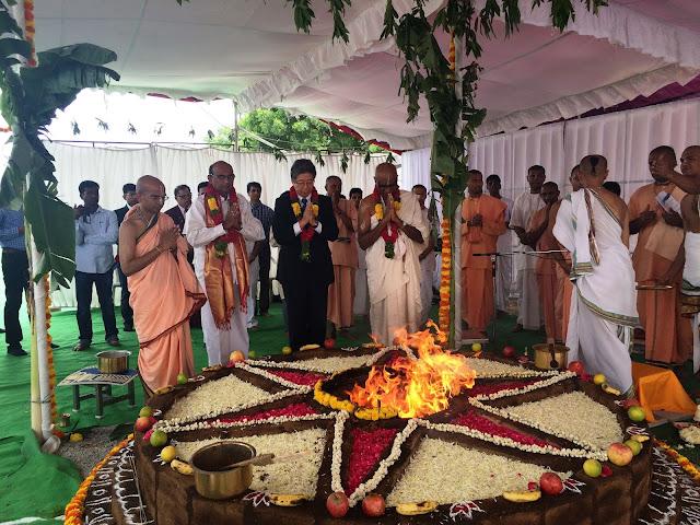 MUFG and Akshaya Patra Foundation lays the foundation for its kitchen in Narsingi, Ranga Reddy District