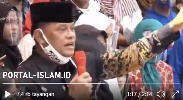 Jenderal TNI (Purn) Gatot Nurmantyo berapi-api bela Hafidz Qur'an yang dituduh agen Radikalisme