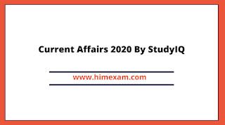 Current Affairs 2020 By StudyIQ
