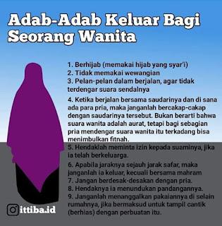 Adab-Adab Keluar Bagi Seorang Wanita