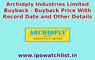 archidply buyback detail