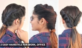 2 Easy Hairstyle For Office , Work ,Collage / Low Twisted Ponytail Hairstyle