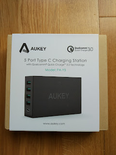 base de carga 5 puertos quick charge 3.0  Aukey  PA-Y5-AYES