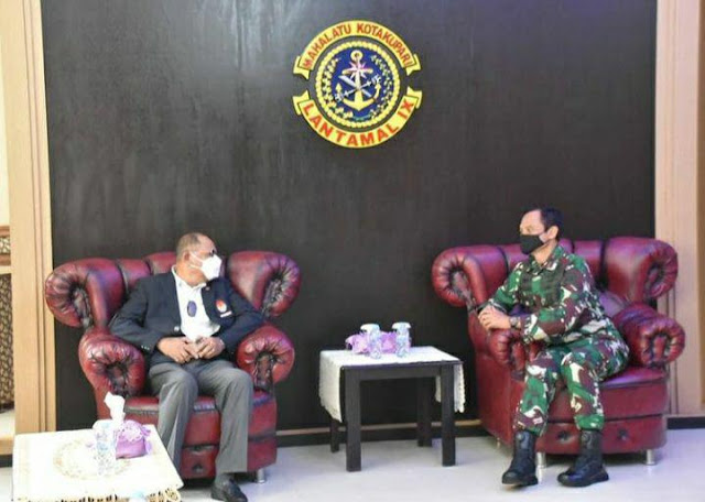 Eko Jokowiyono Terima Kunjungan Tonny D. Pariella di Lantamal IX