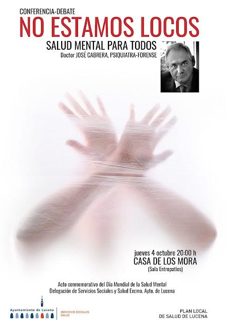 Conferencia del Psiquiatra José Cabrera en Lucena