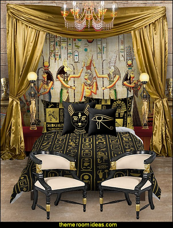 egyptian bedroom egyptian furniture egyptian bedding Egyptian theme bedroom decorating ideas - Egyptian decor - Egyptian furniture - Egyptian Themed Home Decor - pyramid wall murals - Egyptian wall decals - Egyptian themed bedding - Egyptian throw pillows -  egyptian themed bedding set - ancient egyptian themed bedding - Egyptian Home decor ideas - Egyptian costumes - Egyptian themed lighting -  Egyptian Queen costume -  Egyptian Pharaoh Costume - Hieroglyphic posters - Egyptian themed rooms