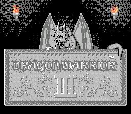 El Pequeño Rincón de los Grandes RPG - Dragon Warrior III - Pantalla de Título RPG