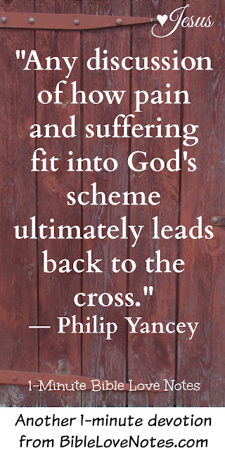 Philip Yancey, Quote about Christ's suffering