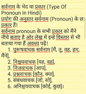 Type Of Pronoun In Hindi