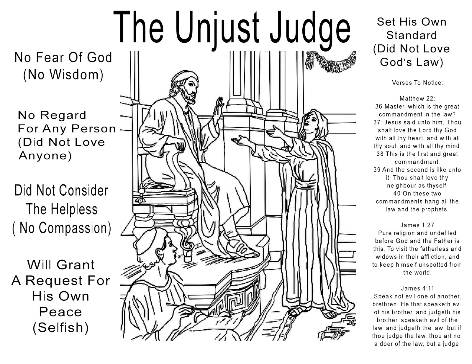 Children S Gems In My Treasure Box The Unjust Judge