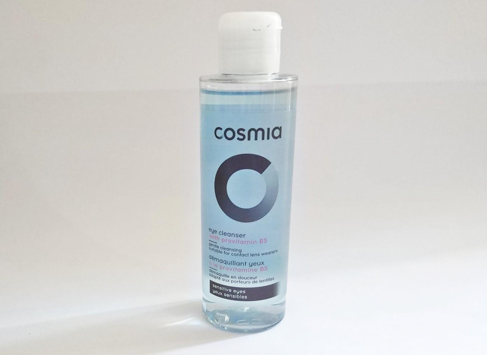 Desmaquilhante p/ olhos sensíveis e com lentes de contacto, Cosmia