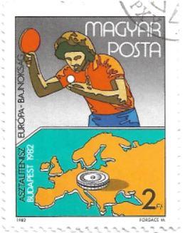 Selo Campeonato Europeu de Tênis de Mesa