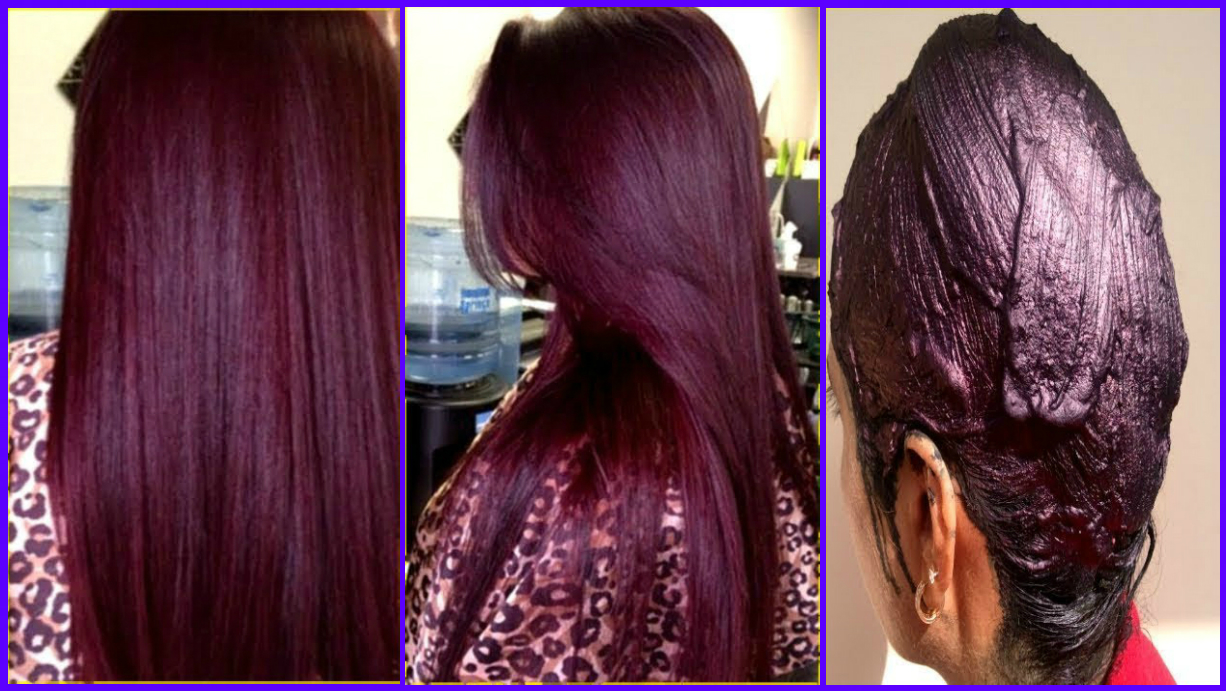 How Make 100 % Natural Burgundy Hair Color With Henna - Color Your ...