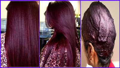 Natural Burgundy Hair Color With Henna  How Make  How Brand 100 % Natural Burgundy Pilus Coloring Amongst Henna - Coloring Your Pilus Naturally At Home