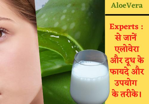 Experts : से जानें एलोवेरा और दूध के फायदे और उपयोग के तरीके।