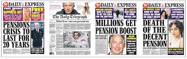 pensions front pages